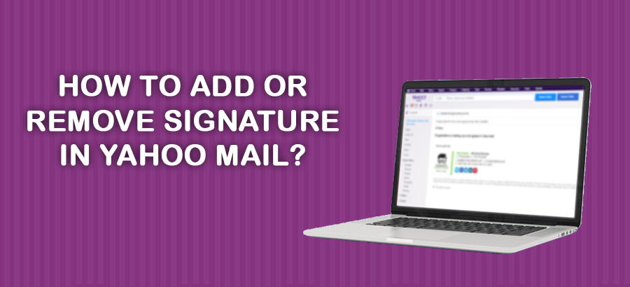 Add or Remove Signature in Yahoo Mail